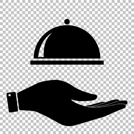 signe Server. Enregistrer ou protéger le symbole à la main Vecteurs