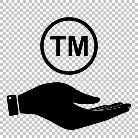warrant: Trade mark sign. Flat style icon vector illustration.