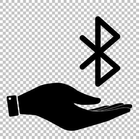 bluetooth: Bluetooth sign. Save or protect symbol by hand