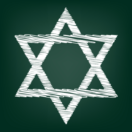 jews: Star. Shield Magen David. Symbol of Israel on transparent background