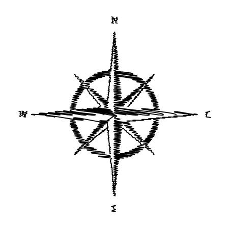 rosa vientos: El viento se levant� signo. icono de estilo plano en el fondo transparente