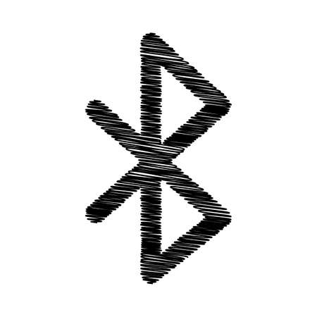 bluetooth: Bluetooth sign. Flat style icon on transparent background