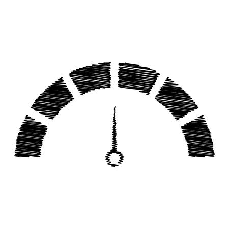 スピード メーターの標識です。透明な背景にフラット スタイル アイコン  イラスト・ベクター素材