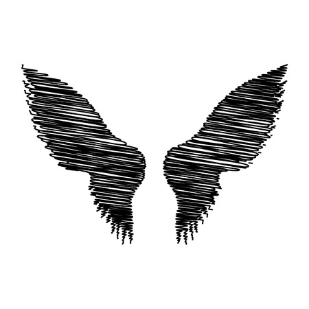 Wings sign. Flat style icon on transparent background