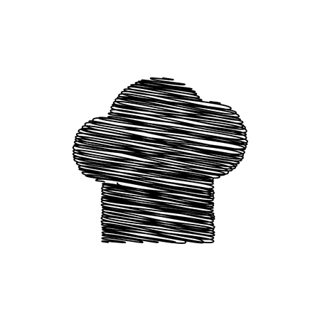 replaceable: Chef cap sign. Flat style icon on transparent background