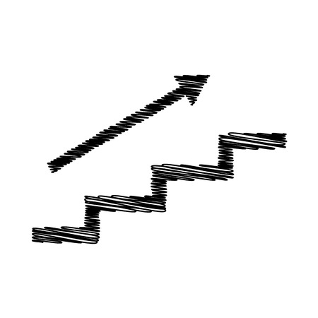 Stair With Arrow. Flat Style Icon On Transparent Background Stock Vector    52563581