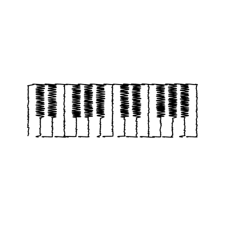 Piano Keyboard  sign. Flat style icon on transparent background Illustration