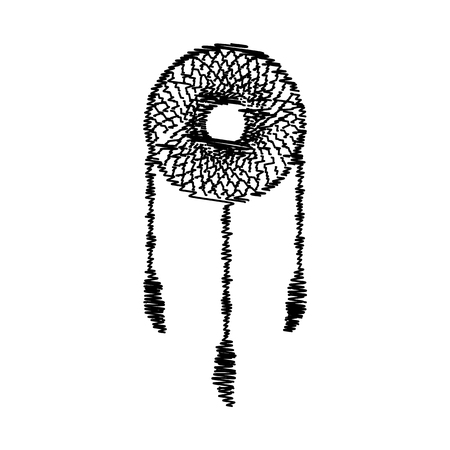 swelled: Dream catcher sign. Flat style icon on transparent background