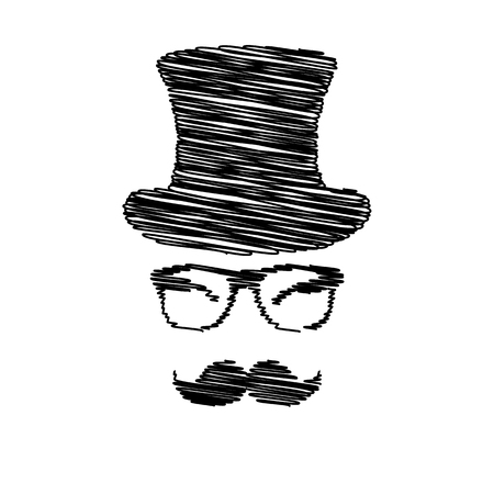 gent: Hipster style accessories design. Flat style icon on transparent background Illustration