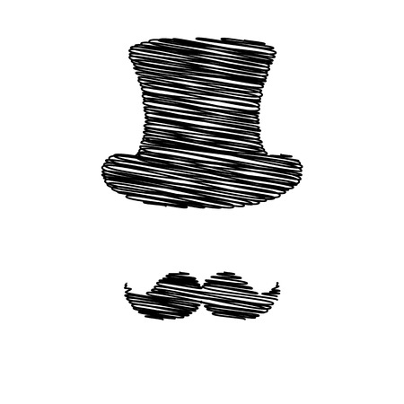 masculinity: Hipster style accessories design. Flat style icon on transparent background Illustration