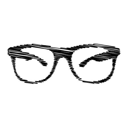eyewear: Sunglasses sign. Flat style icon on transparent background