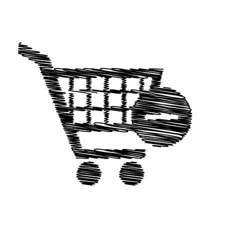 shoppingcart: Vector Shopping Cart Remove from Cart Icon. Flat style icon on transparent background