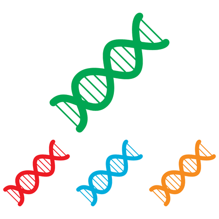 heredity: The dna sign. Colorfull set isolated on white background