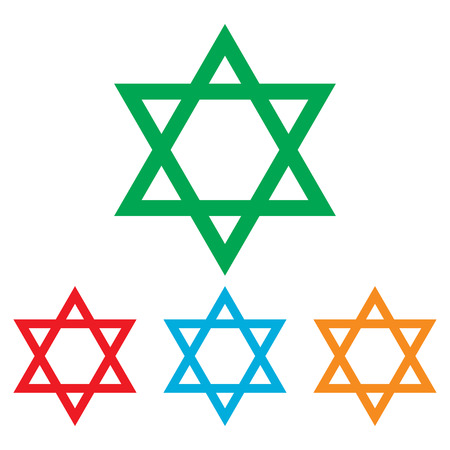 magen: Star. Shield Magen David. Symbol of Israel on transparent background