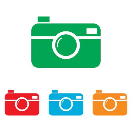 whim of fashion: Digital photo camera icon. Colorfull set isolated on white background