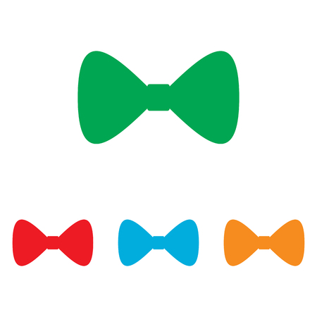 prom: Bow Tie icon. Colorfull set isolated on white background