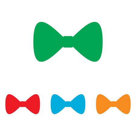 Icono de la pajarita. Colorfull conjunto aislado sobre fondo blanco Ilustración de vector