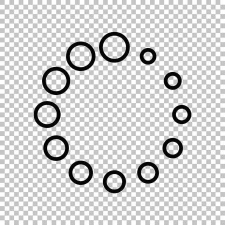 preloader: Circular loading sign. Line icon on transparent background Illustration