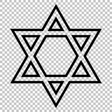 Star. Shield Magen David. Symbol of Israel on transparent background