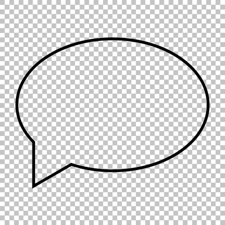 bubble background: Speech bubble line vector icon on transparent background