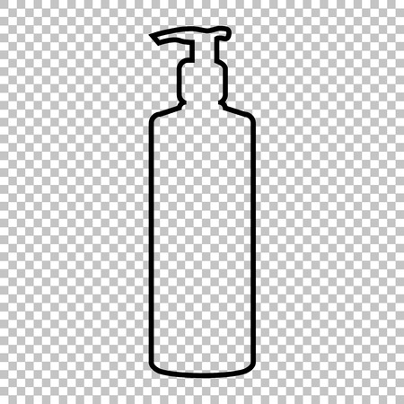 silhuette: Gel, Foam Or Liquid Soap Dispenser Pump Plastic Bottle silhuette line icon