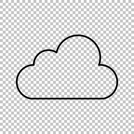technologie: Cloud technologie  line vector icon on transparent background