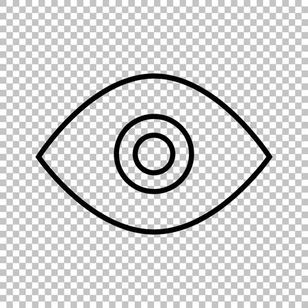 透明な背景に目行ベクトルのアイコン
