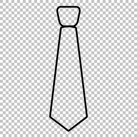 dresscode: Tie line vector icon on transparent background Illustration