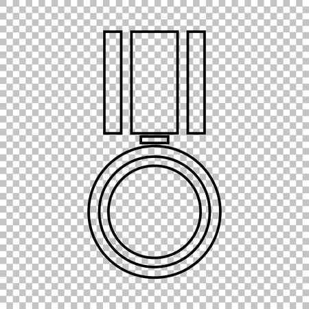 incentive: Medal line vector icon on transparent background
