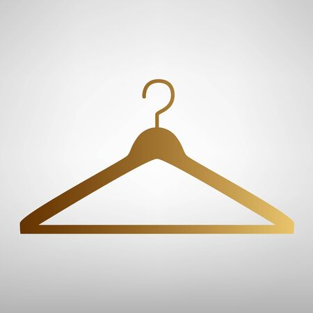 Hanger sign. Flat style icon with golden gradient