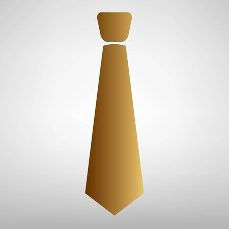dresscode: Tie sign. Flat style icon with golden gradient