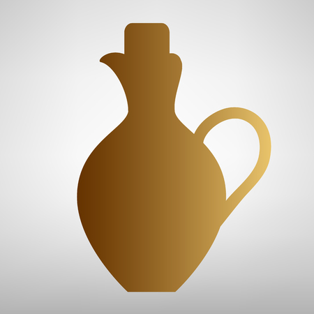 amphora: Amphora sign. Flat style icon with golden gradient Illustration