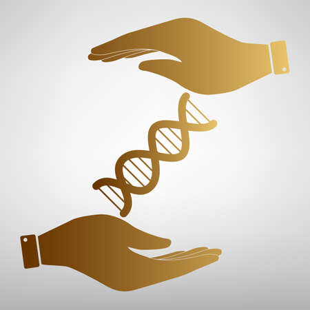The dna sign. Flat style icon vector illustration. Vector Illustration