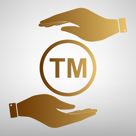 limitation: Trade mark sign. Flat style icon vector illustration.