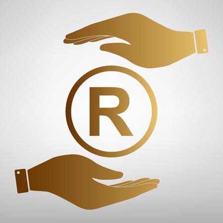 duplication: Registered Trademark sign. Flat style icon vector illustration. Illustration