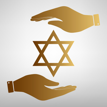 magen: Star Shield Magen David. Symbol of Israel.
