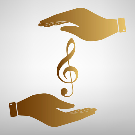 festival scales: Music violine clef sign. Flat style icon vector illustration.