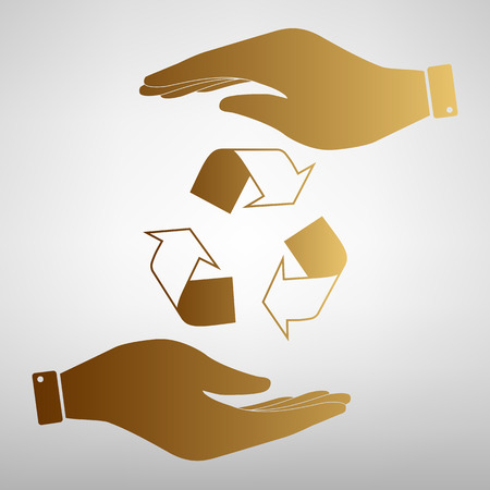 recycle logo: Recycle logo concept. Flat style icon vector illustration. Illustration