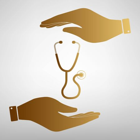 io: Stethoscope sign. Flat style icon vector illustration. Illustration