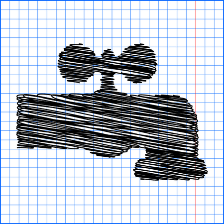 spew: The water faucet icon with pen effect on paper.
