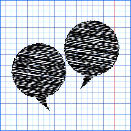 bubble pen: Speech bubble with pen effect on paper.