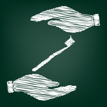 portion: Toothbrush with applied toothpaste portion. Flat style icon with scribble effect