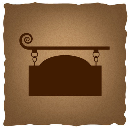 wrought: Vector wrought iron sign for old-fashioned design. Coffee style on old paper.