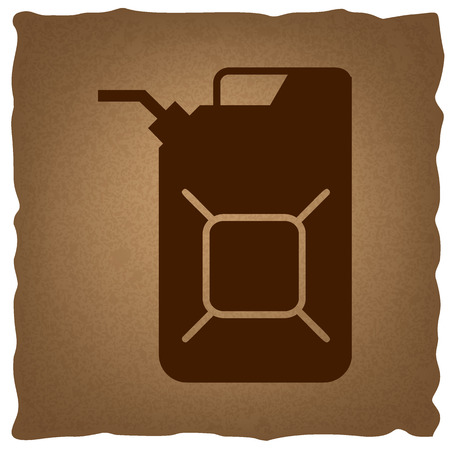 jerry: Jerrycan oil sign. Jerry can oil sign. Coffee style on old paper. Illustration