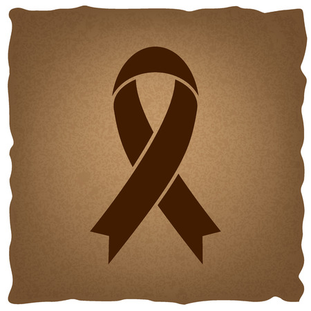 substance abuse awareness: Black awareness ribbon sign. Coffee style on old paper.