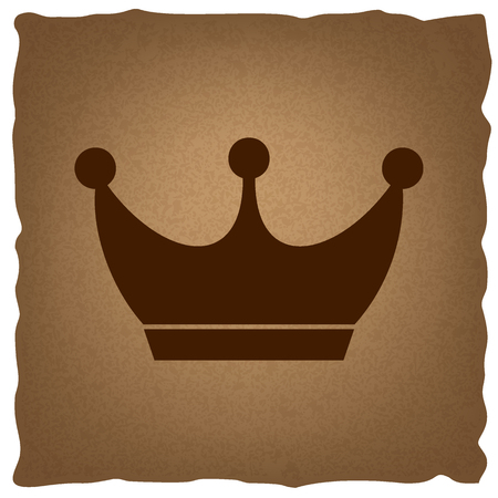 royal person: King crown sign. Coffee style on old paper. Illustration