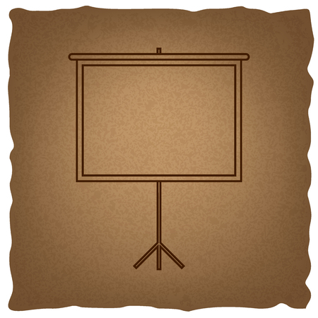 projection screen: Blank Projection screen. Coffee style on old paper.