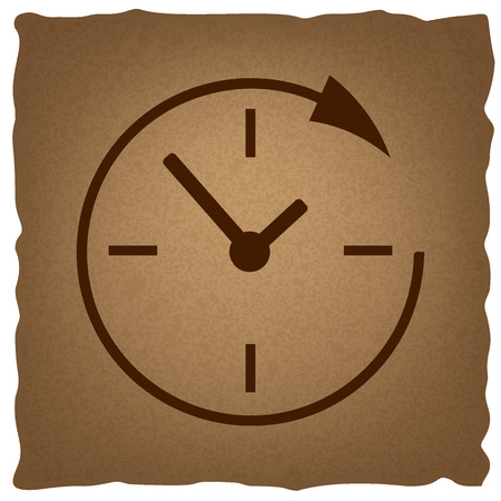 around the clock: Service and support for customers around the clock and 24 hours. Coffee style on old paper.