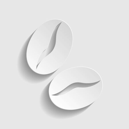 mocca: Coffee sign. Paper style icon with shadow on gray Illustration