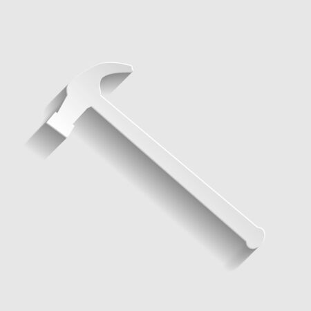hummer: Hummer simple  icon. Paper style icon with shadow on gray Illustration